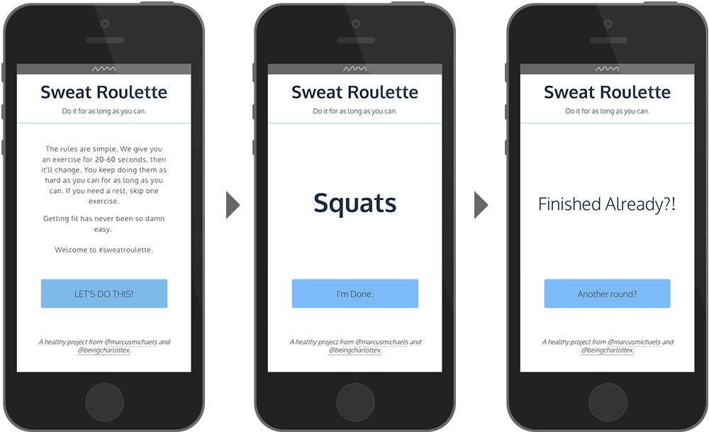 Sweat Roulette Web App