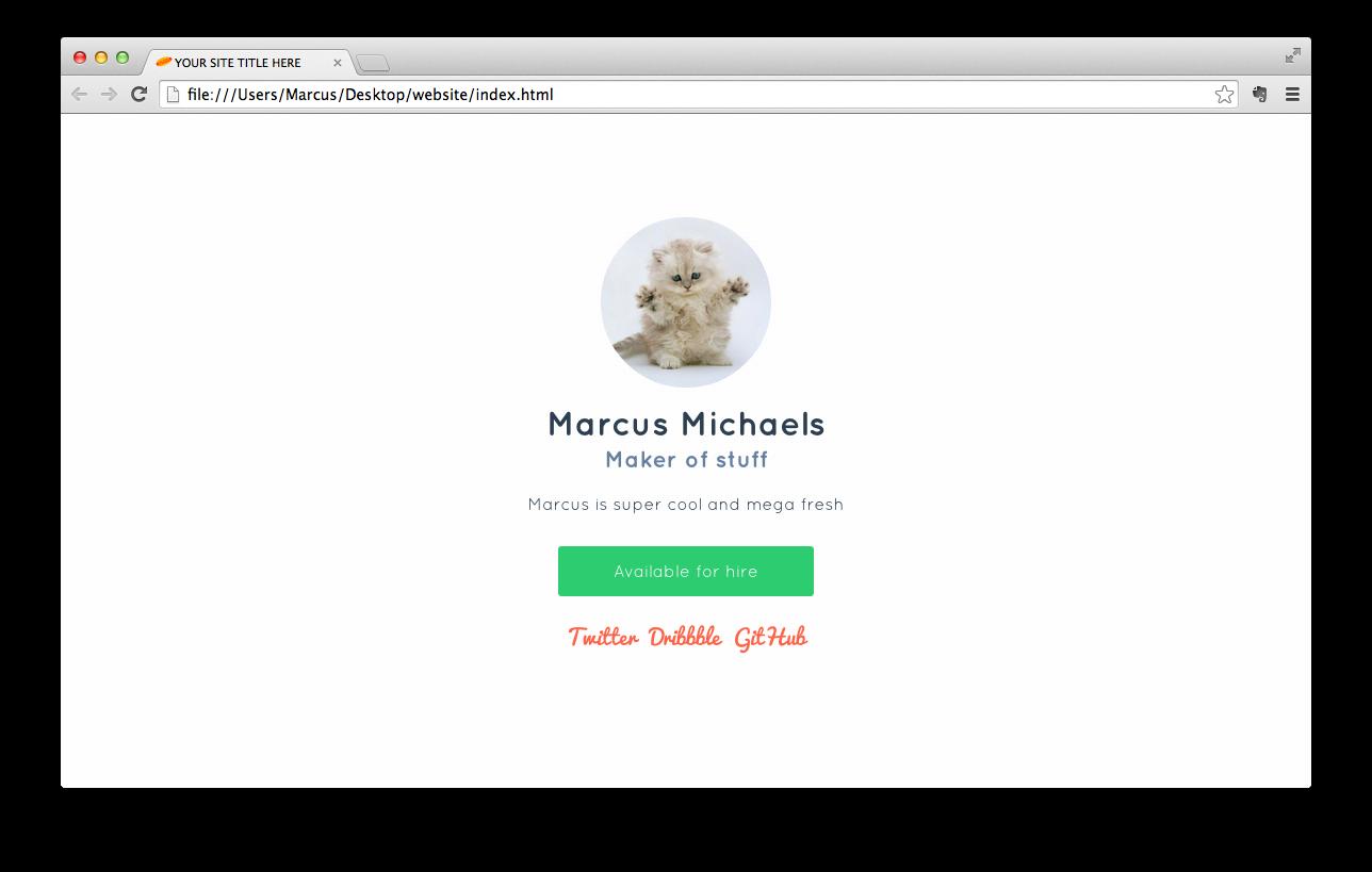 Finished, styled website