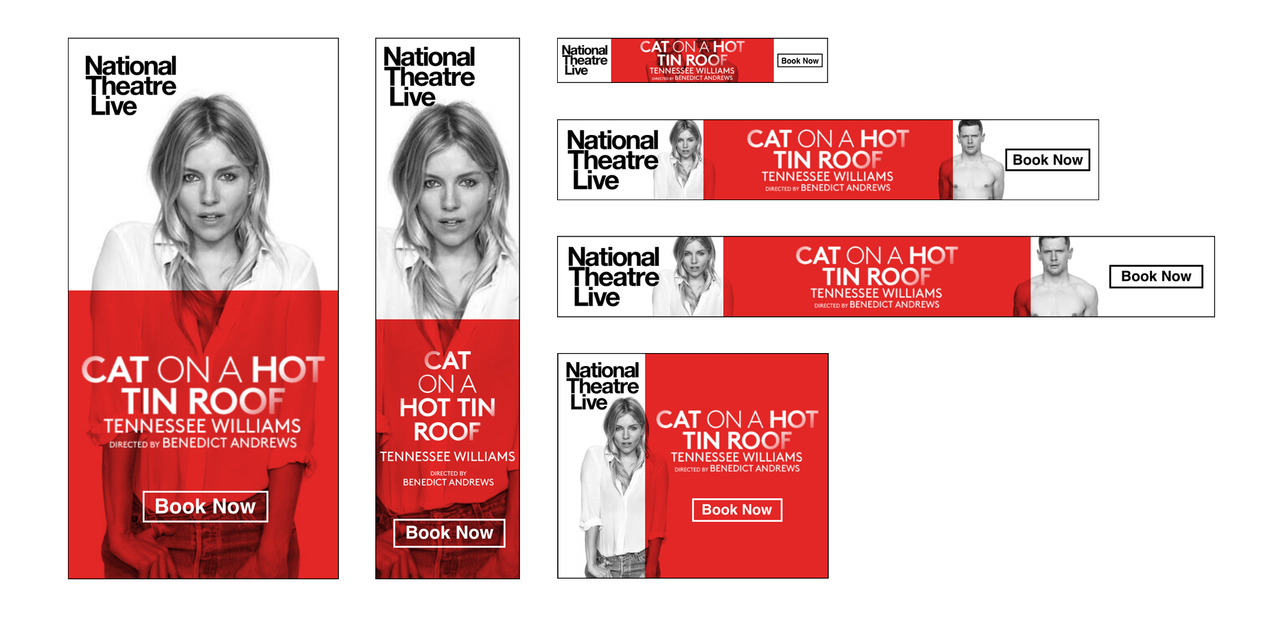 Cat on a Hit Tin Roof, National Theatre Live Banners