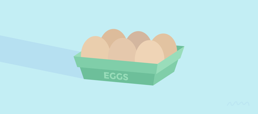 Eggs: Blue Basket