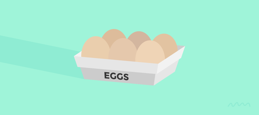 Eggs: Grey Basket