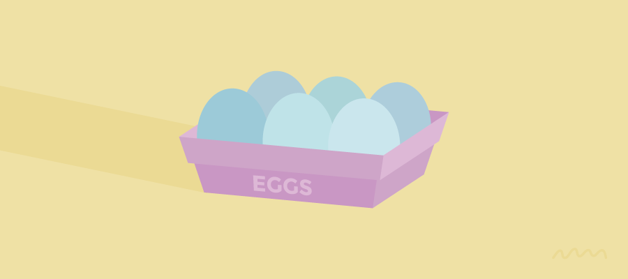 Eggs: Pink Basket