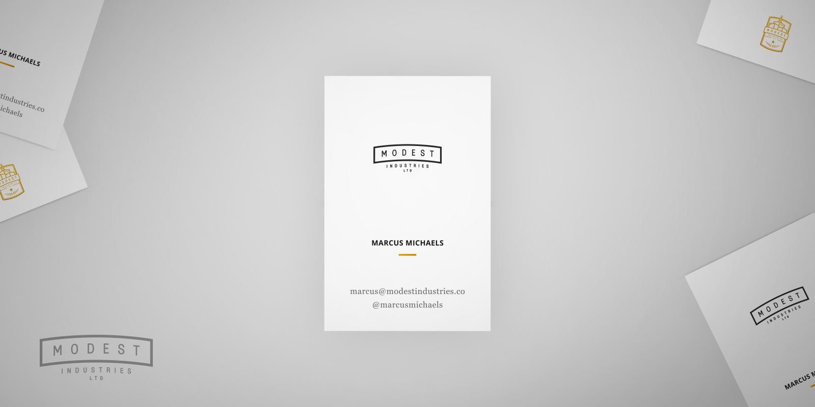 Modest Industries Business Cards